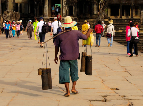 Angkor Wat - off to work