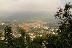 Doi Konmu - view to Mae Hong Son Airport