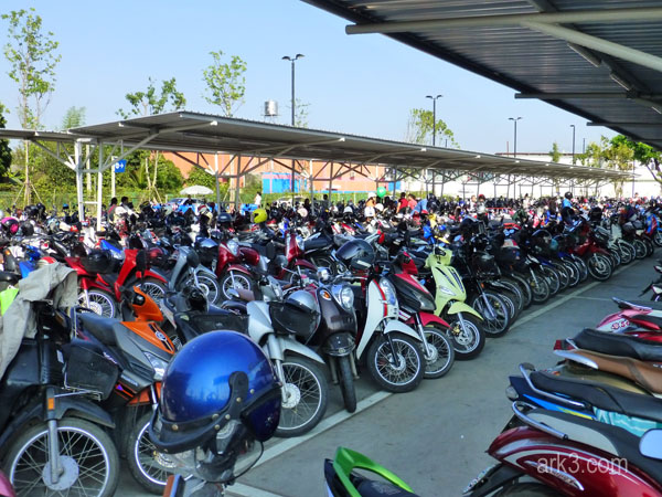 Motorbikes - lots of them