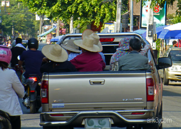 Utility vehicle - with people