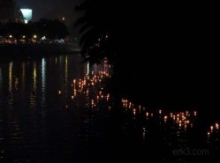 Loy Kratong 6th November - Kratong in the river