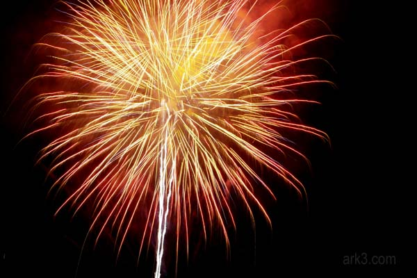 New Years' fireworks Chiang Mai
