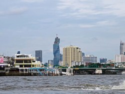 ark3_ modern Bangkok from the Chaopraya River