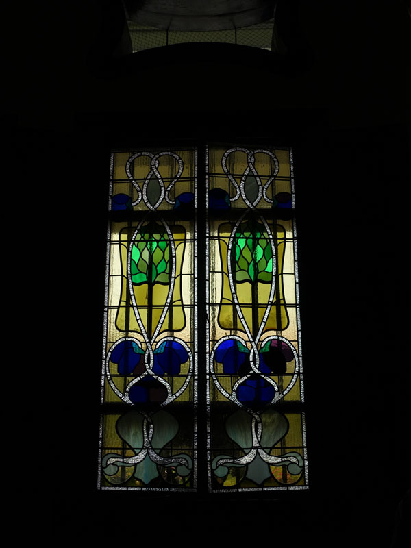 Penang - Cheong Fatt Tze Mansion, stained glass windows