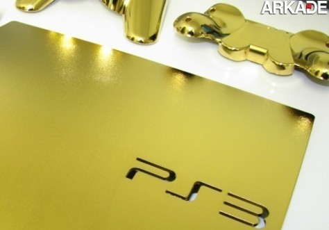PlayStation 3 Slim banhado a ouro 24 quilates