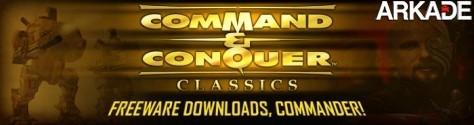 Três clássicos da série Command & Conquer disponíveis de graça!