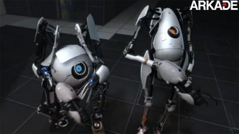 Portal 2 ganha trailer mostrando modo cooperativo