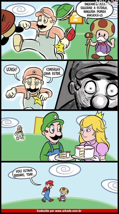 Tirinha – A estrela de Mario não é 100% infalível