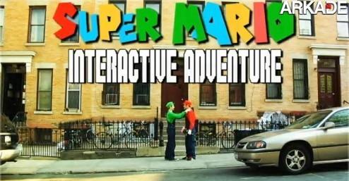 Jogue um adventure de Super Mario Bros no YouTube