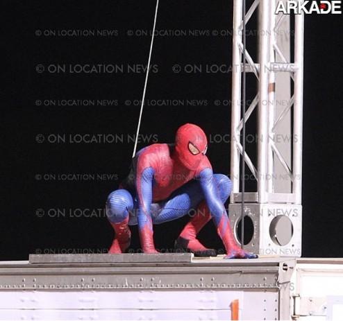 Veja fotos inéditas das filmagens do novo filme do Homem-Aranha