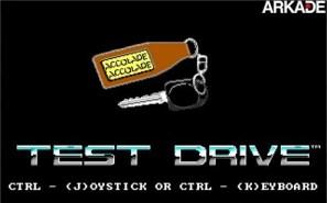Tela inicial de Test Drive (1987)