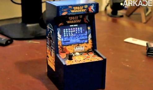 O menor fliperama de Space Invaders do mundo!