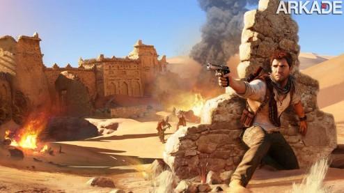 Uncharted 3 ganha novo trailer e é testado por Indiana Jones em pessoa