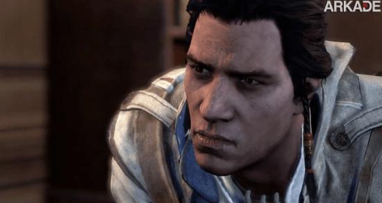 Novo vídeo de Assassin's Creed III mostra o rosto do protagonista Connor