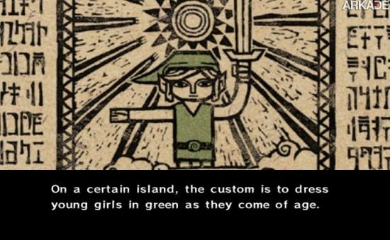 Pai muda sexo de Link para encorajar sua filha a jogar Zelda: The Wind Waker