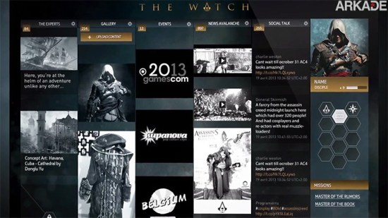 Assassin's Creed IV: Novo trailer apresenta The Watch, a rede social dos Assassinos