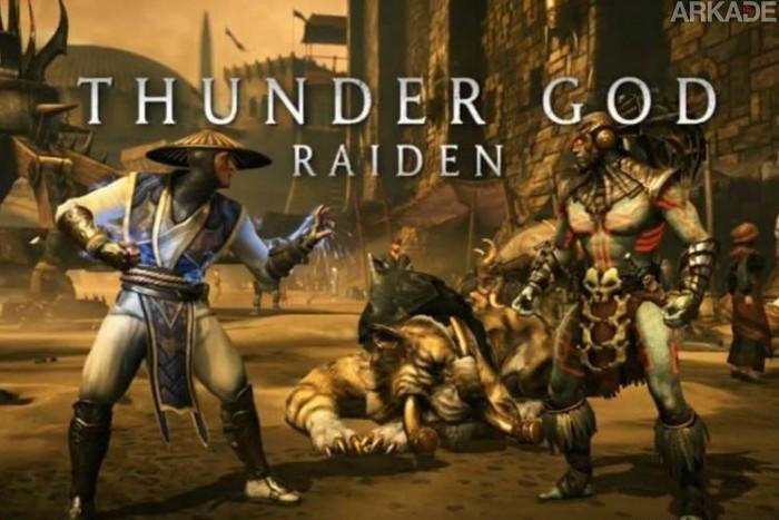 Here comes a new challenger: Raiden é anunciado como novo personagem de Mortal Kombat X!