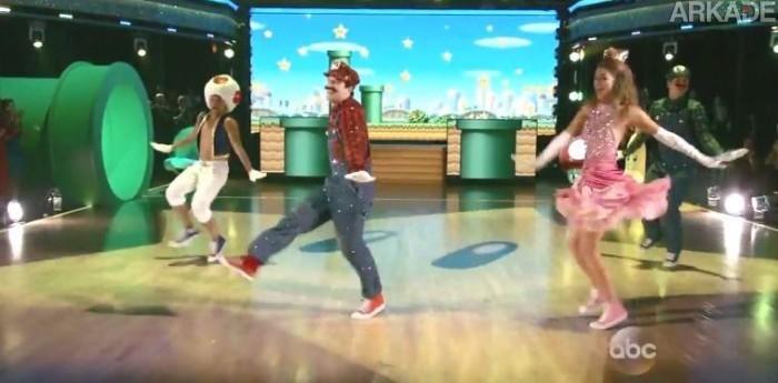 Veja Mario, Peach, Luigi e Toad dando um show de ritmo no programa Dancing with the Stars