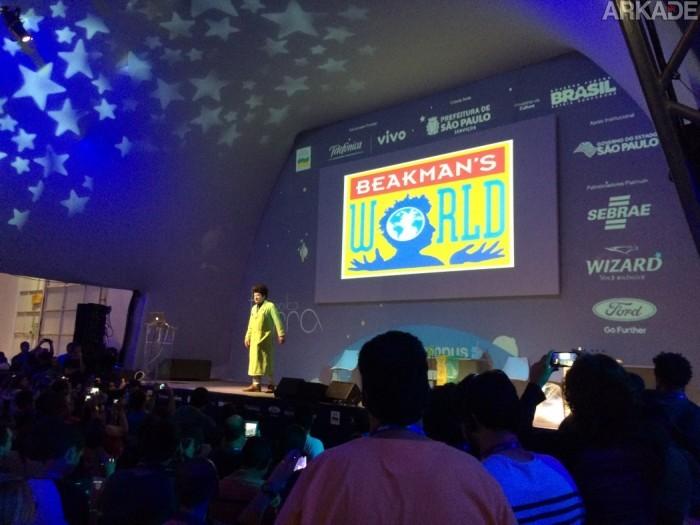 Campus Party 2015: Paul Zaloom apresenta o Beakman e traz alegria com suas experiências.