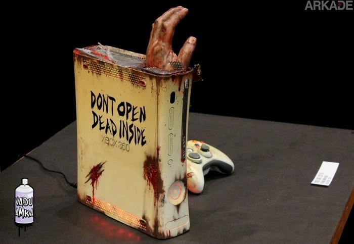"""Este Xbox 360 """"infectado"""" vai se tornar o sonho de todo fã da série The Walking Dead"""