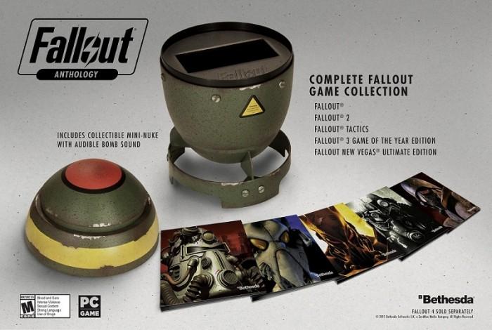 Bethesda apresenta Fallout Anthology, a coleção especial que vem dentro de uma bomba (!)