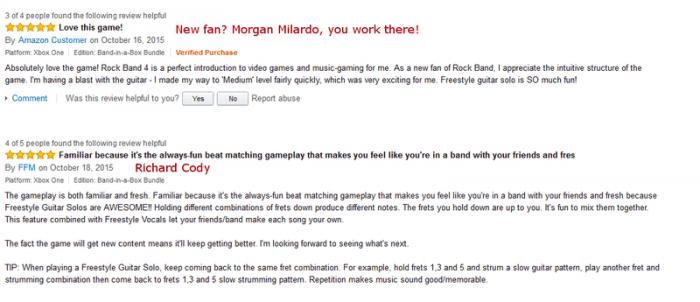 """Tribuna Arkade: desenvolvedores de Rock Band 4 são """"flagrados"""" dando boas notas para o game"""