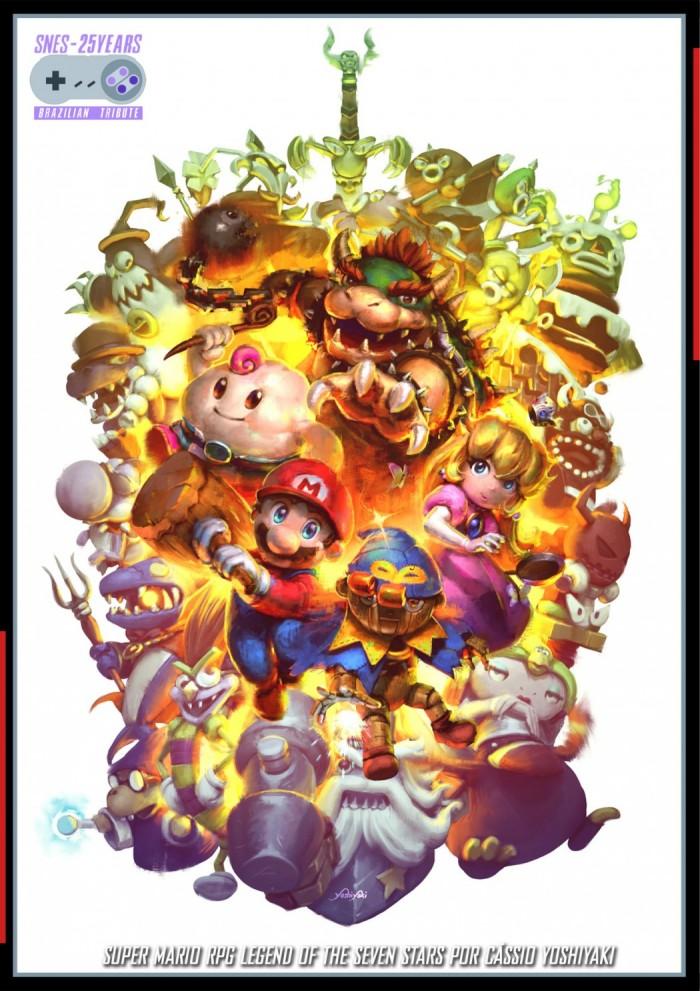 Artistas brasileiros celebram os 25 anos do Super Nintendo com ilustrações épicas