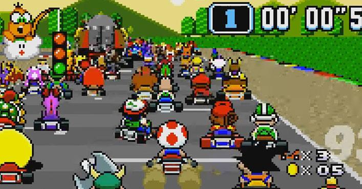 Super Mario Kart com 101 personagens na mesma corrida é gloriosamente caótico! - Arkade