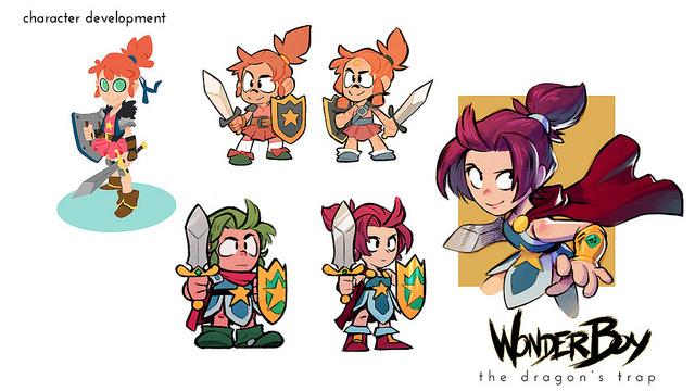 Wonder Boy: The Dragon's Trap - Conheça Wonder Girl, a primeira personagem feminina da série!