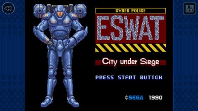 SEGA Forever ganha mais um clássico em sua coleção - ESWAT: City Under Siege