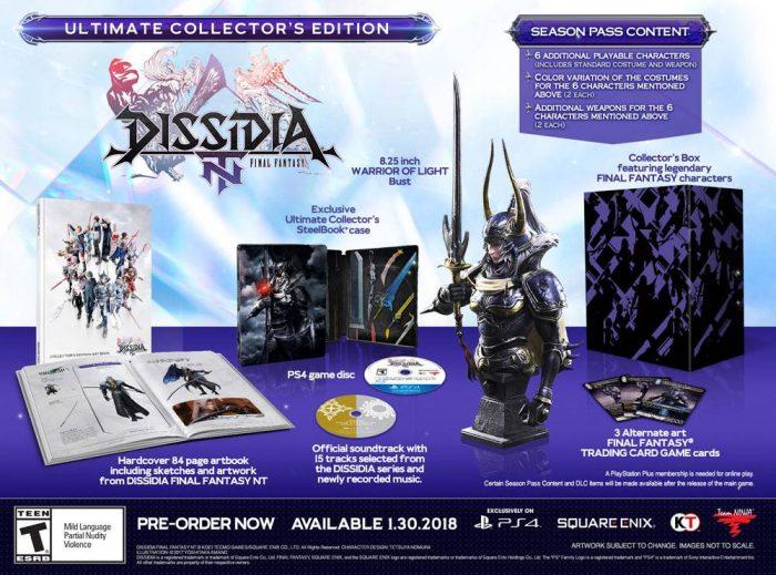 É hora de pancadaria com o vídeo de abertura e a edição de colecionador de Dissidia Final Fantasy NT