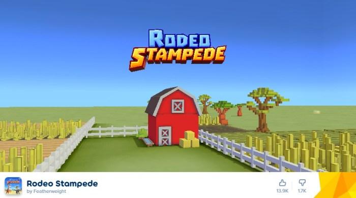 Savannah Rodeo Stampede te coloca no papel de cowboy com gráficos do Minecraft