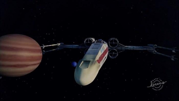 Um jogador criou uma batalha espacial de X-Wing dentro de Dreams