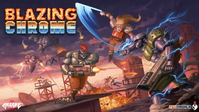 Análise Arkade: Blazing Chrome traz muita diversão e desafio e é do Brasil!
