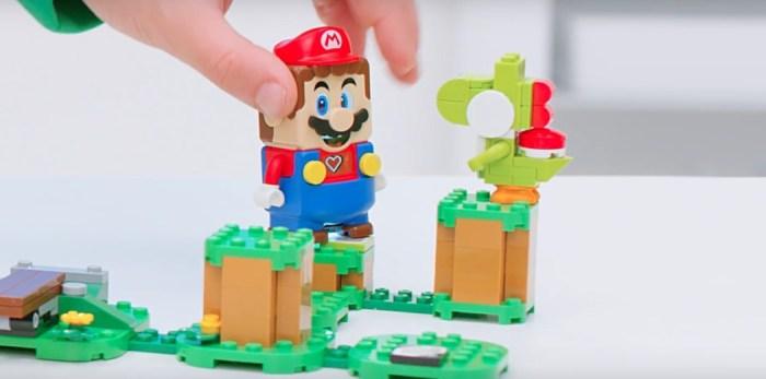 """Lego Super Mario traz a construção de """"fases"""" em blocos, e interatividade"""