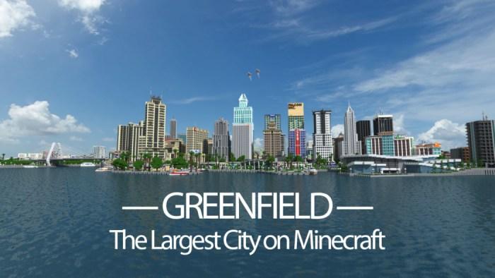 Minecraft: que tal visitar Greenfield, a maior cidade já construída dentro do game?