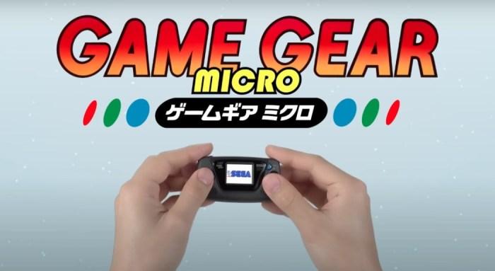 SEGA anuncia o seu Game Gear Micro, versão miniatura de seu portátil