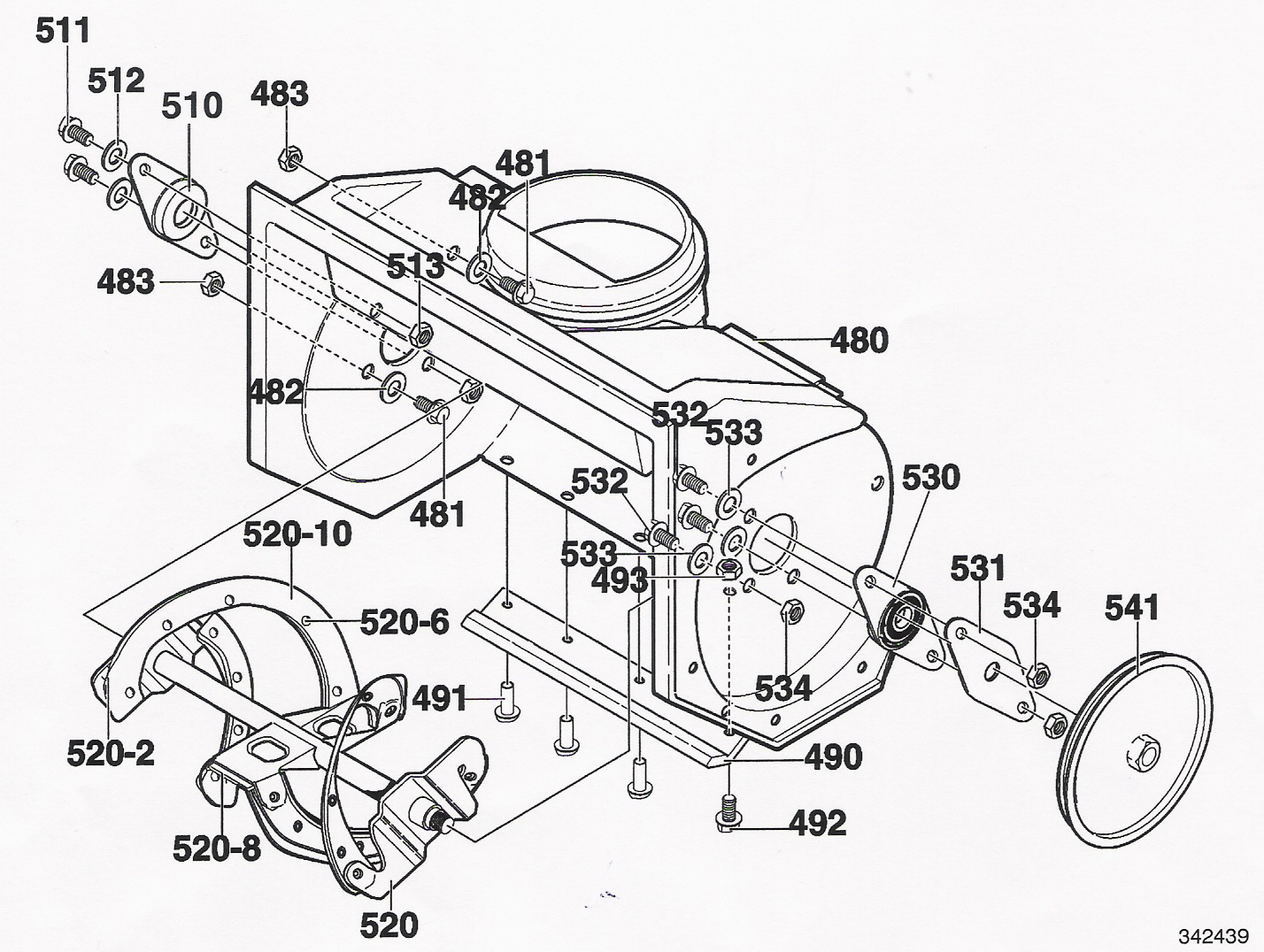 Yard King Snowblower Parts Diagram John Deere Mower Parts