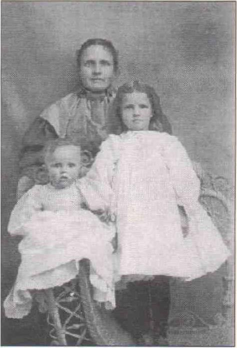Image of Mrs. Lesmeister and her children.