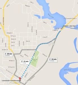 map to Fish Baltz Lake