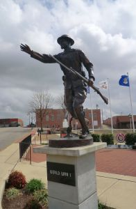 War Memorial statue downtown Pocahontas