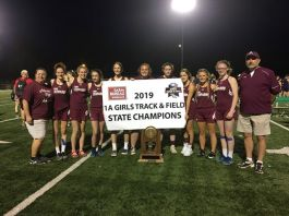 Alpena HS ladies track team are the state 1A track meet