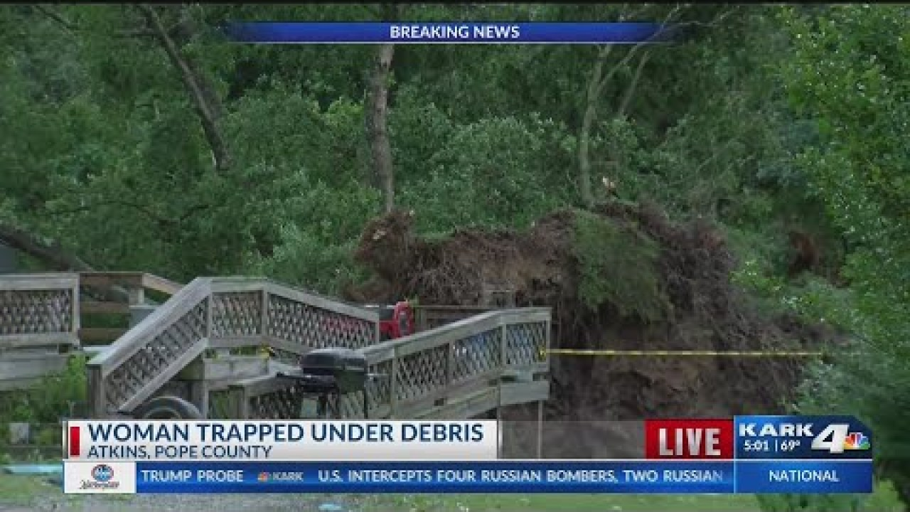 WATCH: Woman Trapped Under Debris in Pope County - Arkansas