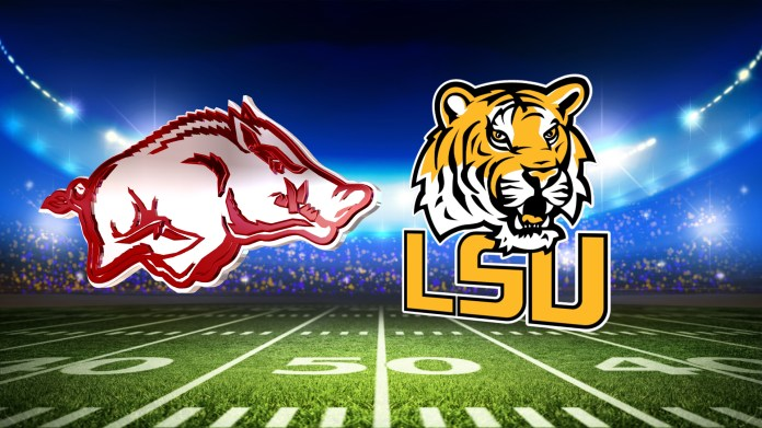 LSU Blows Out Arkansas in Battle For The Golden Boot