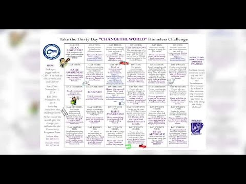 VIDEO: 30-day homeless challenge