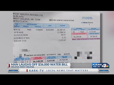 VIDEO: Arkansas man laughs off $36,000 water bill