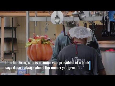 VIDEO: Digital Original: A bank president spends 7th Thanksgiving carving turkeys for the homeless
