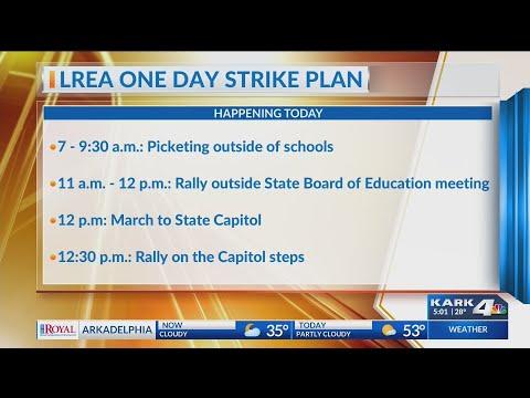 VIDEO: KARK 4 Today- LREA Strike 5 a.m.