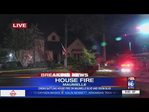 VIDEO: Maumelle house fire