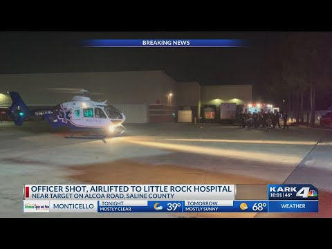 VIDEO: Bryant Police Chief confirmed one of his officers has been shot